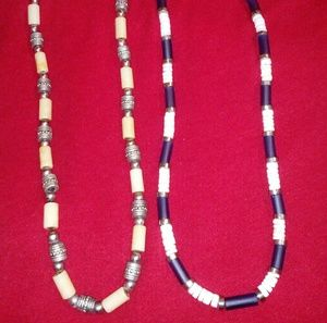 2 vintage ethnic necklaces